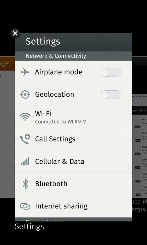 Auch das Wechseln zwischen Apps ist möglich, wenn man die Home-Taste gedrückt hält.