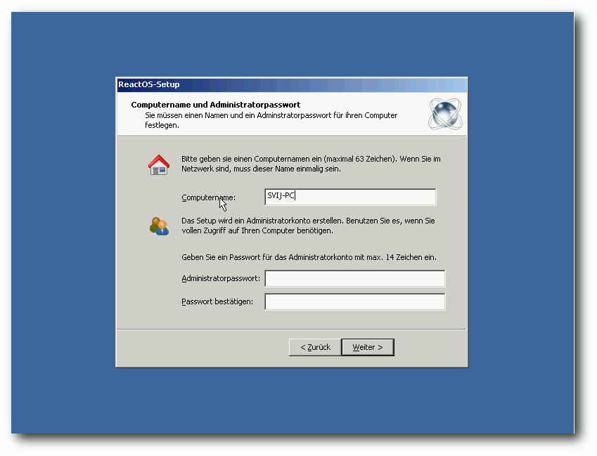 ReactOS Setup Assistent